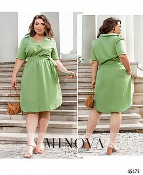 Платье №17-272-Оливка Оливка/50-52