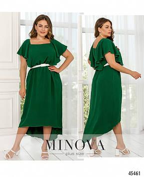 Платье №1034А-зеленый зеленый/52-54