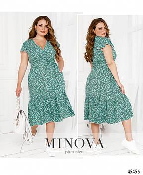 Платье №1038Б-морская-волна морская-волна/50-52