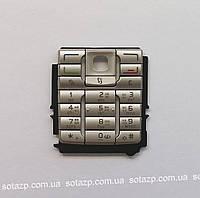 Клавиатура для мобильного телефона Nokia E60 серебро, русская, High Copy