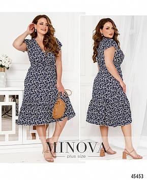Платье №1038Б-синий синий/50-52