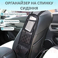 Автомобильный Органайзер На Сиденье 42х14х3 см Два Сетчатых Кармана