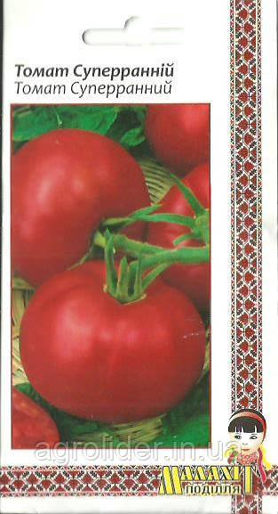 Семена томат Суперраний 0.1г Красный (Малахiт Подiлля)