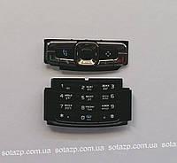 Клавиатура для мобильного телефона Nokia N95 8gb  чёрная,  русская, верхняя и нижняя, High Copy