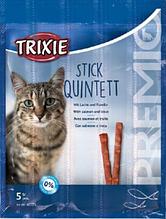 Ласощі для кішок Trixie Premio Stick Quintett (смаки в асортименті), 1 шт