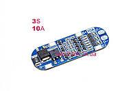 BMS контроллер заряда-разряда 3-х Li-Ion 18650 HX-3S-FL10A 11.1V-12.6V 10A.