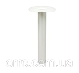 ПВХ воронка кровельная вертикальная серого цвета диаметром 110 мм  высота 600 мм