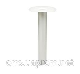 ПВХ воронка кровельная вертикальная серого цвета диаметром 110 мм  высота 600 мм, фото 2