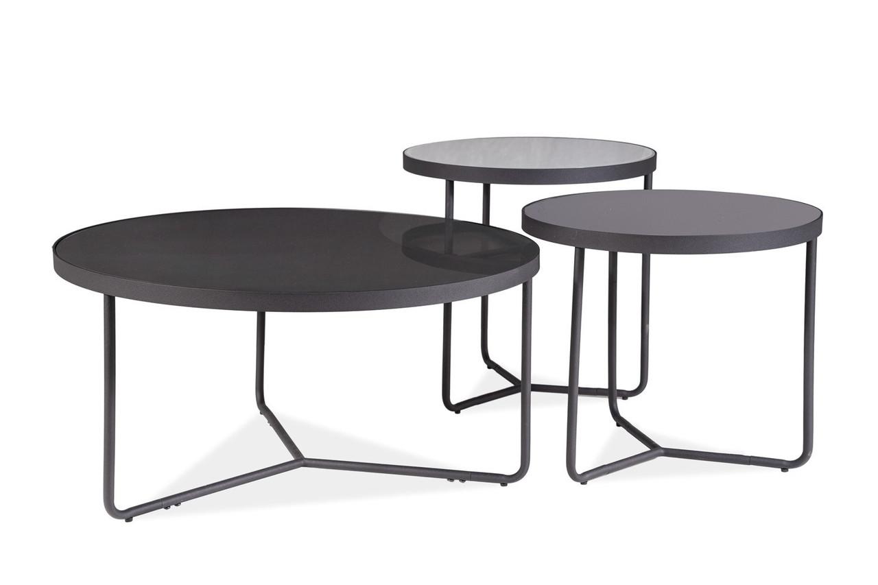 Журнальний столик Artemida Сірий + Чорний