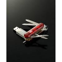 Нож складной SWISSMEMORY 58мм/8предм/крас.прозр /ножн/LED/USB128Mb/ручкаVx06026.TM1