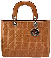 Женская сумка Dior Lady Dior Cannage Bag рыжая