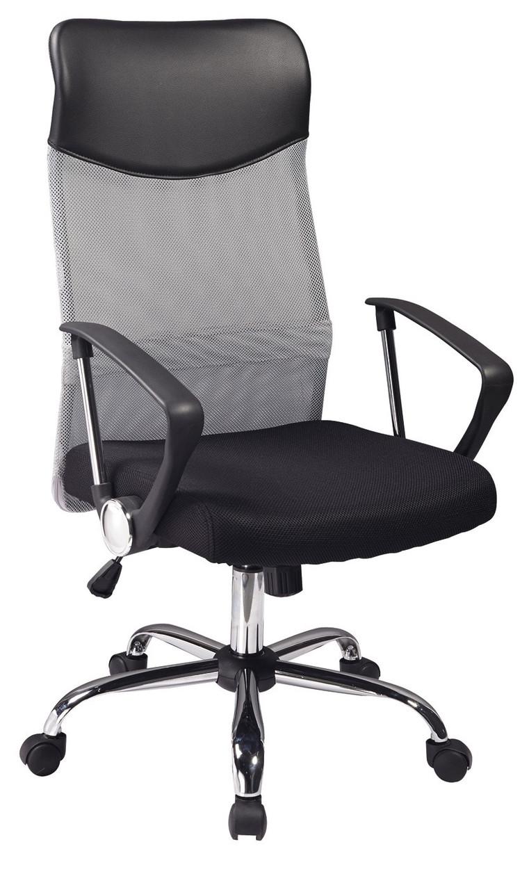 Крісло Q-025 Чорний/Сірий