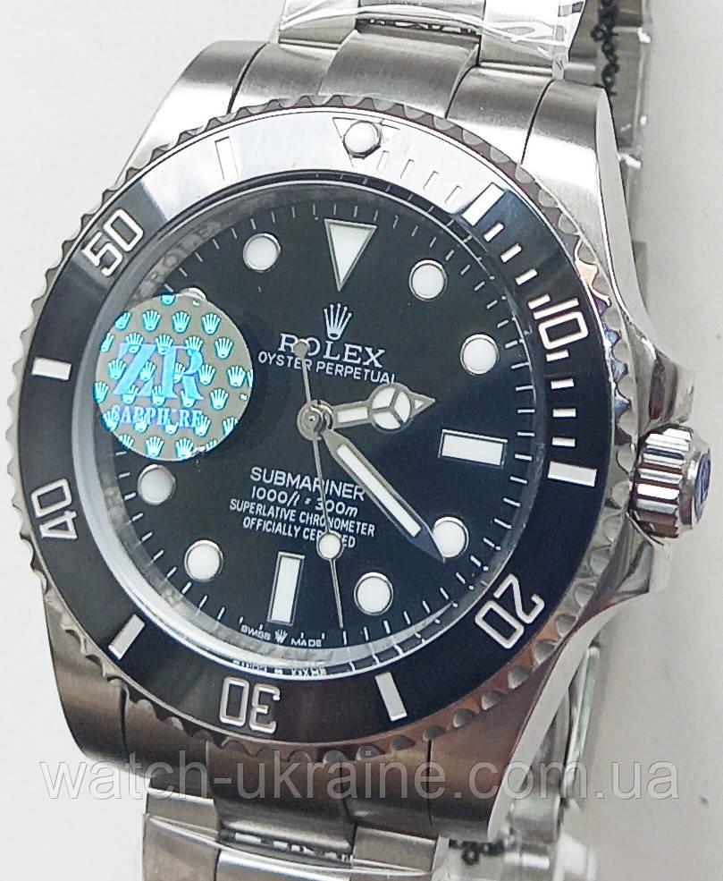 Годинник Rolex Submariner black механіка. клас ААА