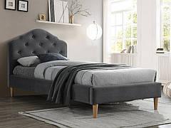 Ліжко односпальне CHLOE VELVET 90X200 сірий/дуб BLUVEL 14