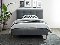Ліжко односпальне TEXAS 120X200 колір сірий/дуб TAP. 23