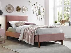 Ліжко односпальне ACOMA VELVET 90X200 антична троянда/дуб BLUVEL 52