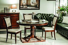 Стіл обідній Margo 90 (125) x90 см Темний горіх