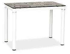 Стіл обідній Damar 100 x 60 см Чорно-білий