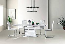 Стіл обідній Fano 160 (220) х90 Білий
