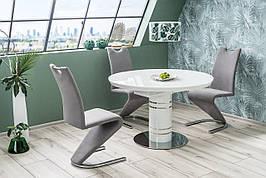 Стіл обідній Stratos 120х120 Білий