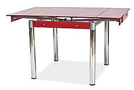 Стіл обідній GD-082 80 (131) x80 Червоний
