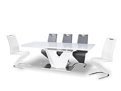Стіл обідній Alaras III Білий / Білий лак 160 (220) X90