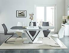 Стіл обідній Valerio Ceramic 160 (220) X90 Сірий / Білий