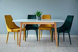 Exen II Intarsio Стіл обідній 120 (160) х80 см Білий