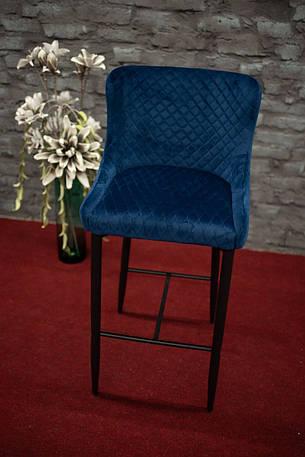 Стілець Colin B Velvet H-1 Синій / Чорний, фото 2