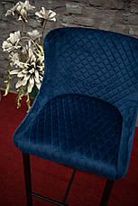 Стілець Colin B Velvet H-1 Синій / Чорний, фото 3