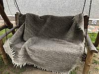 Карпатський ліжник плед Однотонний сірий 150х200, фото 1