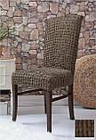 Комплект Чохли на стільці універсальні натяжні без спідниці 6 штук Жатка Бежевого кольору, фото 4
