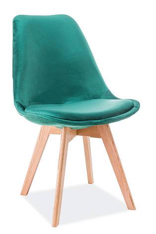 Стілець Dior Velvet Зелений / Дуб, фото 2