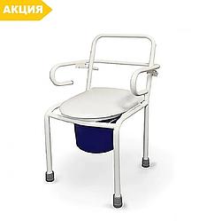 Стул-туалет стальной СТ нерегулируемый с откидными подлокотниками стул туалетный, горшок для взрослых, больных