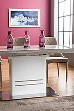 Стіл обідній Cartier ceramic 160 (210) x90 Ефект Мармур / Білий, фото 3