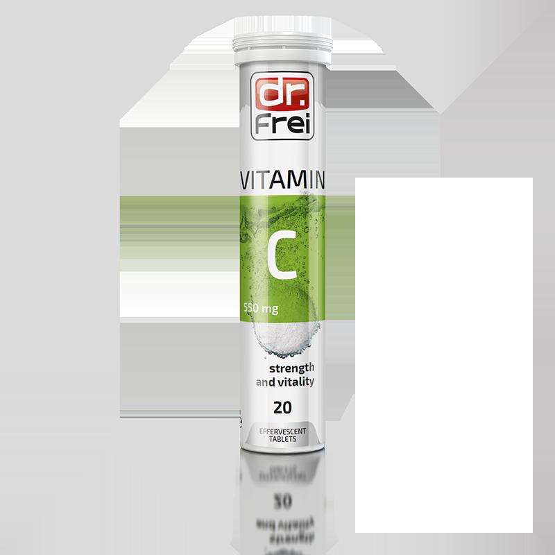 Вітаміни шипучі Dr. Frei Vitamin С 550 мг №20, Болгарія (3789)