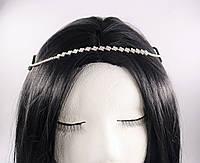 Стильна Тіара-ободок на голову Ромб (срібло) №67, фото 1