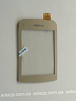 Сенсорный экран для мобильных телефонов Nokia C2-02, C2-03, C2-06, C2-07, C2-08, gold, high copy