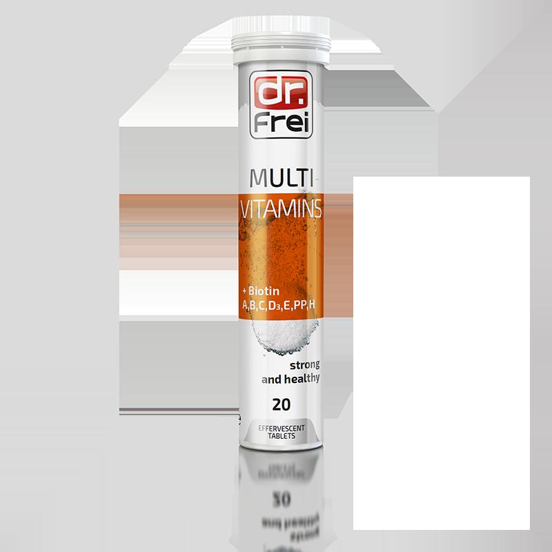 Вітаміни шипучі Dr.Frei Multivitamin + Біотин №20, Болгарія (3758)