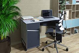 Комп'ютерний стіл Tech Індастріал/Чорний лівий