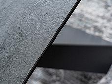 Стіл SALVADORE CERAMIC сірий мармур/чорний мат (160-240)X90, фото 3
