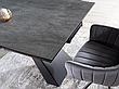 Стіл SALVADORE CERAMIC сірий мармур/чорний мат (160-240)X90, фото 2