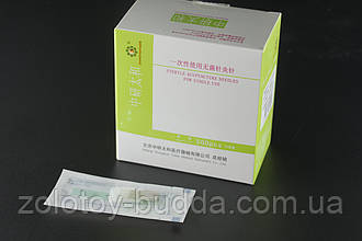 Голки для акупунктури, рефлексотерапії 0,16*7 мм - 500 голок з довгою ручкою. Zhongyan Taihe