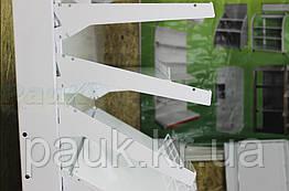 Кронштейн на стелаж Рістел, кронштейн для торгових стелажів, металевий кронштейн на стелаж