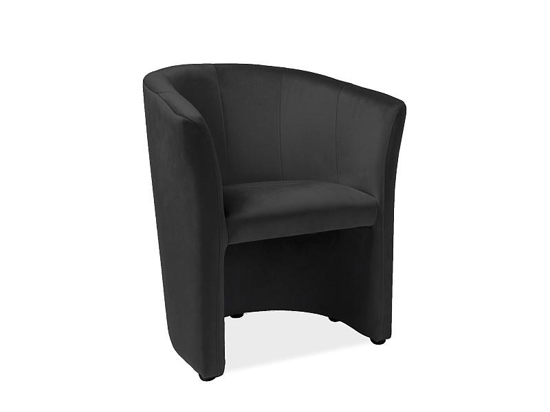 Крісло TM-1 VELVET чорний Чорний/ венге