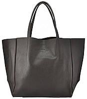 Женская кожаная сумка POOLPARTY SOHO BROWN коричневая