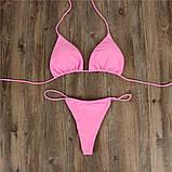 Ніжно рожевий купальник мікро бікіні Б-720, фото 3