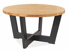 Журнальний столик CONO B LAMINAT дуб/чорний Діаметр 80