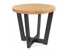 Журнальний столик CONO C LAMINAT дуб/чорний Діаметр 60