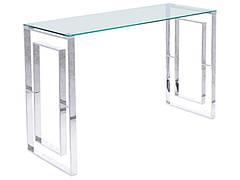 Консоль ALLURE C прозорий/срібний 120X40